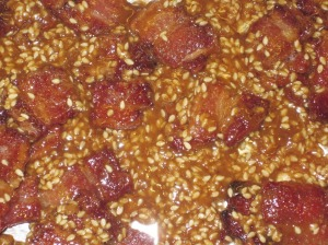 Sesame-Bacon Brittle