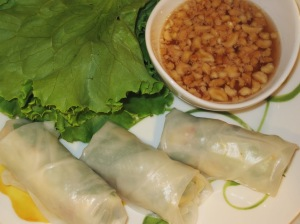 Lobster Summer Rolls with Spicy Soy & Peanut Sauce