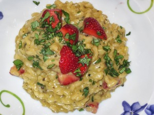 Risotto with Blue Cheese, Strawberries & Black Pepper