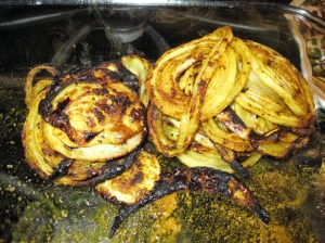 Marinated & Grilled Onions -- ready for stuffing pita