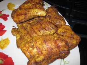 Turkey fresh off the grill and ready for chopping