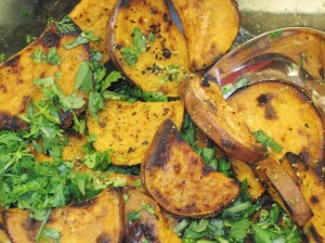 Grilled Sweet Potatoes with Cilantro & Lime