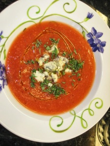 Watermelon & Peach Gazpacho