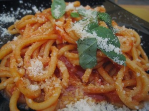 Bigoli with Pomodoro Sauce