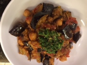Eggplant with Chickpeas