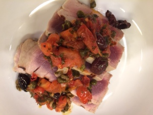 tuna with livornese sauce